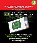 Secure Sleeve for Credit Cards 10 Pack