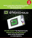 Secure Sleeve for Credit Cards 5 Pack